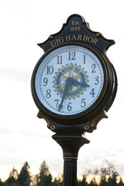 Gig Harbor Clock Finholm's District