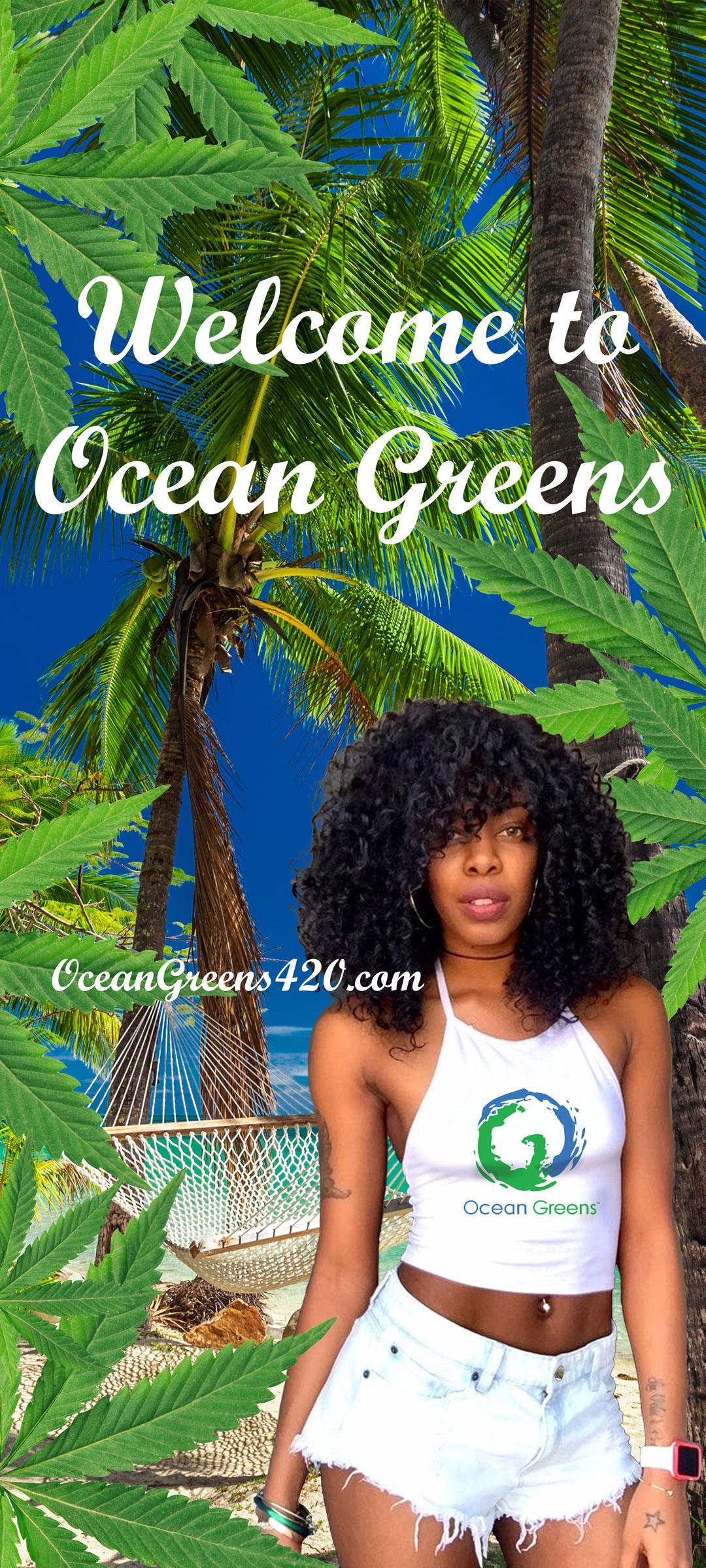 Ocean Greens Door Banner