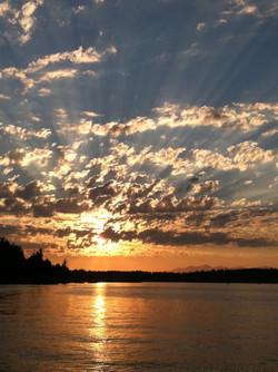 Sunset Runs Over the Bridge
