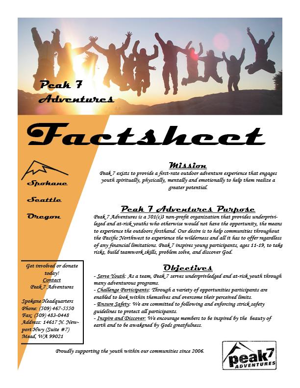 Peak 7 Factsheet pg. 1