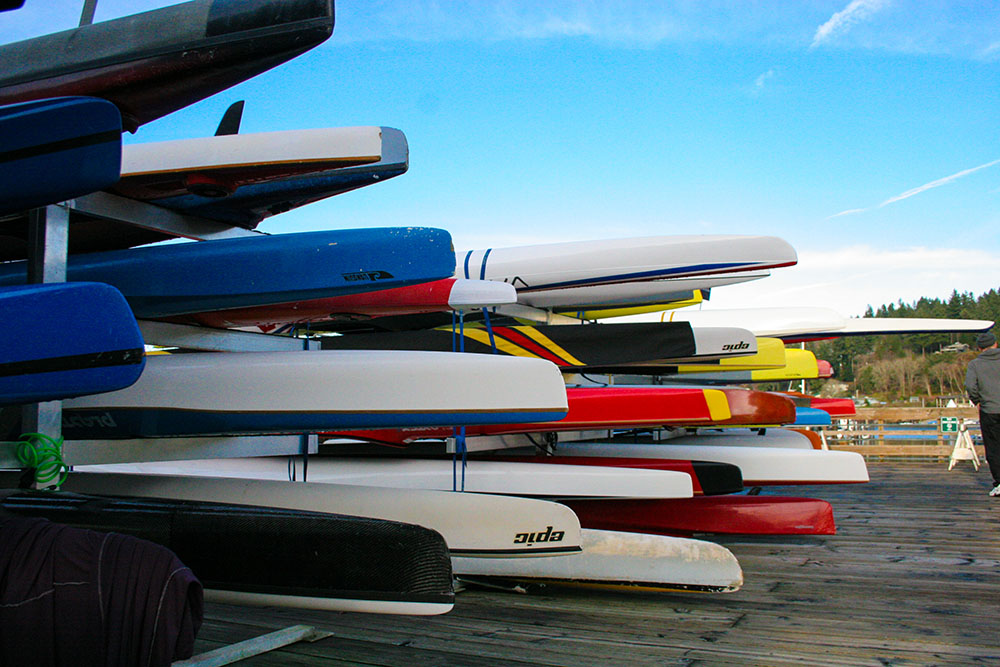 Jerisich Dock Colorful Kayaks