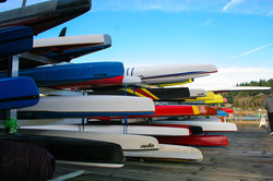Jerisich Dock Colorful Kayaks