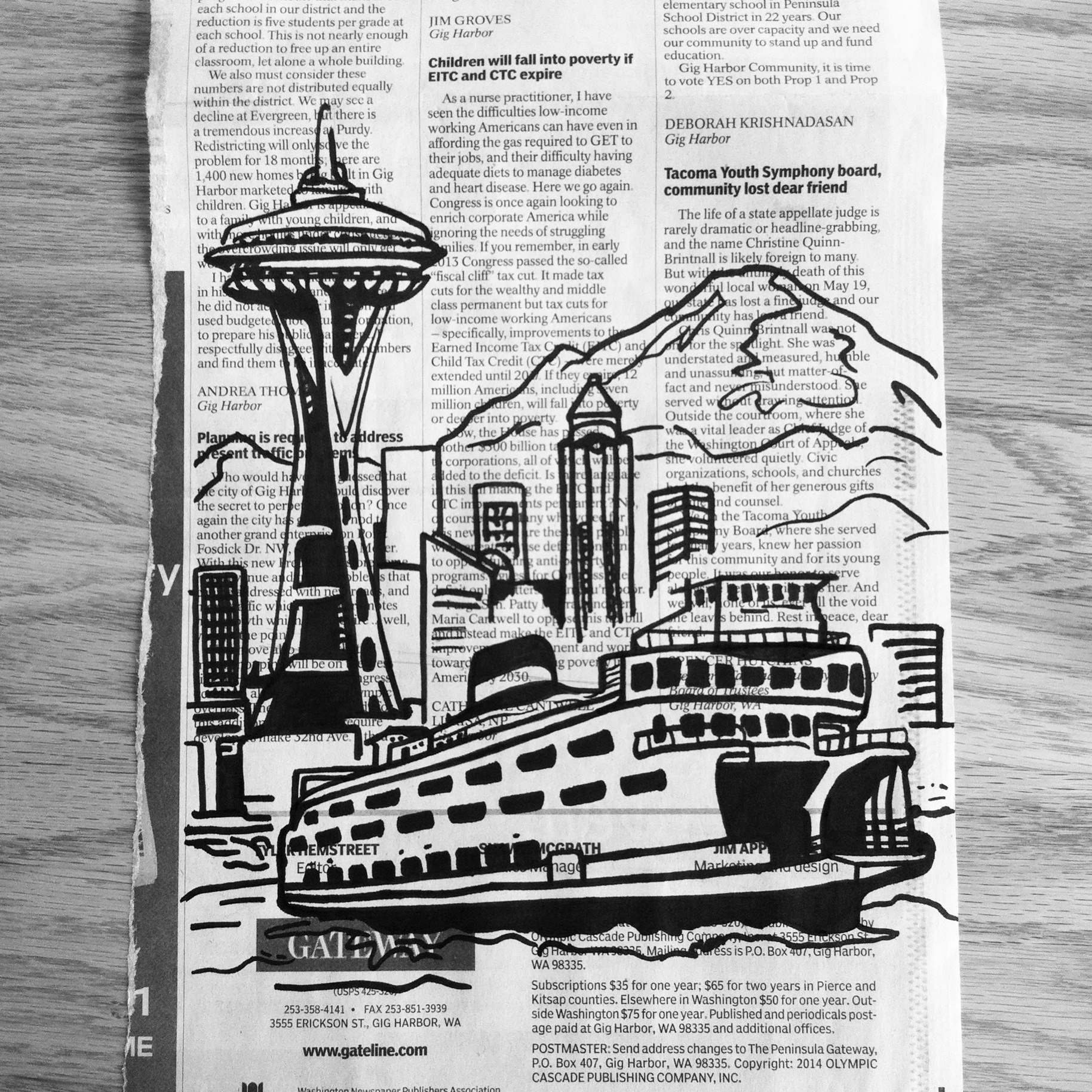 Seattle on Newsprint