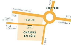 Plan d'accès festival champs en fête 201