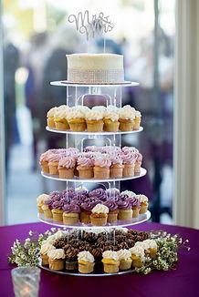 Wedding Cake and Cupcake Tower at The Lake Pavilion