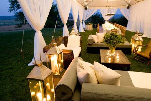 lounge seating by the beach for a mixer