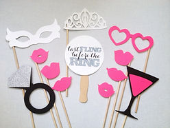 Bachelorette photo booth props