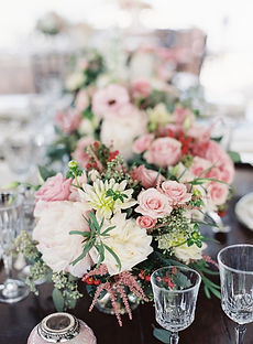 Blush Flower arrangements for a garden inspired wedding