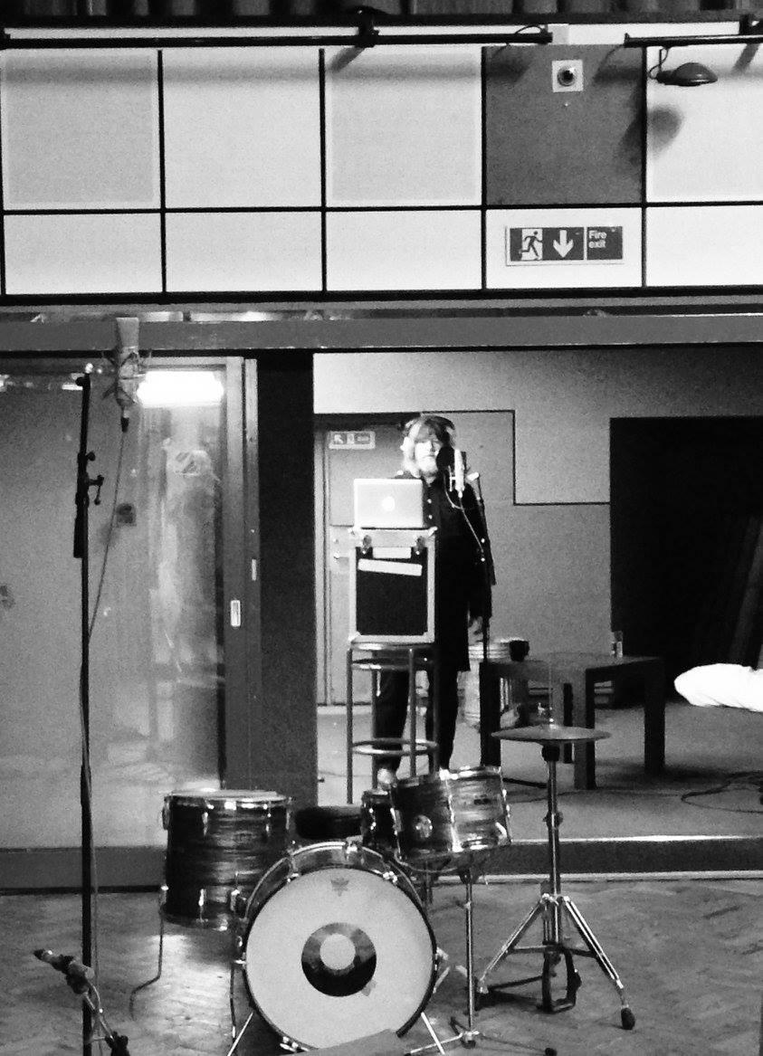 Ebbot in the studio.