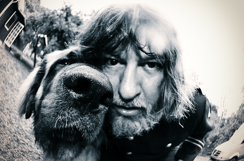 Ebbot Lundberg and his dog