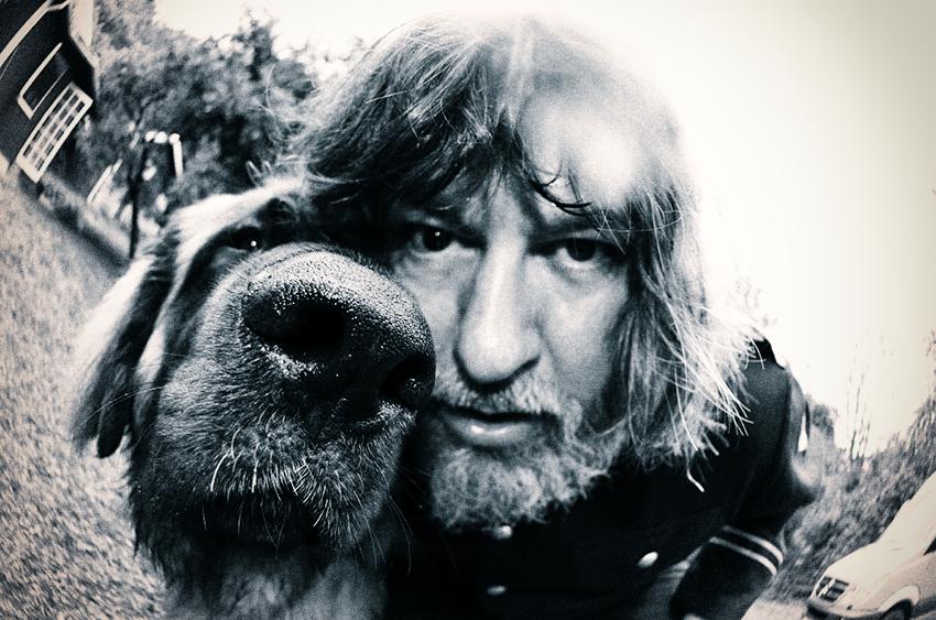 Ebbot Lundberg and his dog