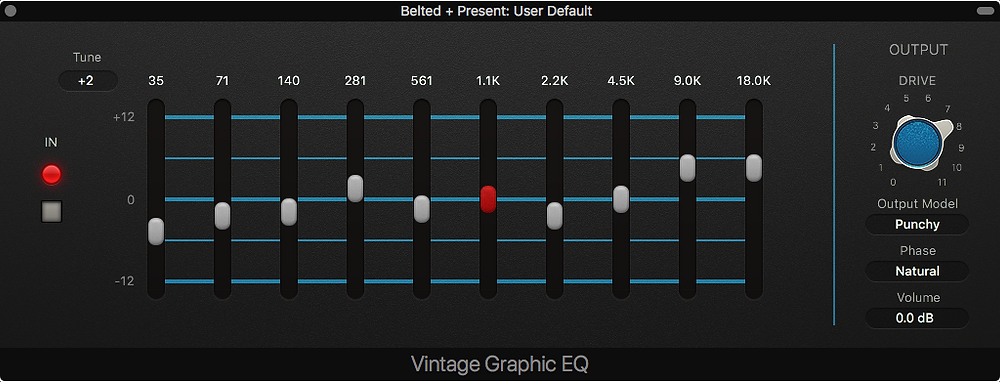 Vintage Graphic EQ plugin in Logic Pro X
