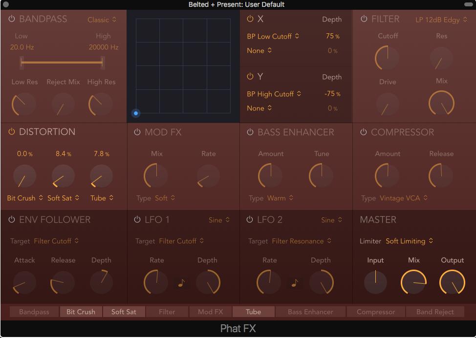 Phat FX plugin in Logic Pro X
