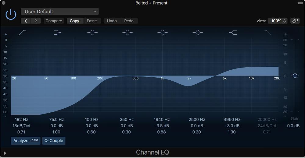 Channel EQ plugin in Logic Pro X
