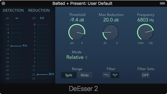 DeEsser 2 plugin in Logic Pro X