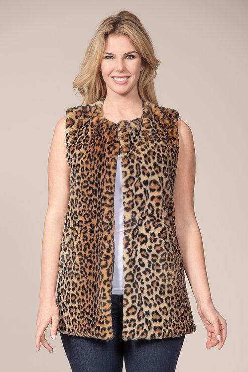 Rain & Rose Faux Fur Vest