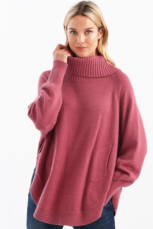 Charlie B Oversize Turtleneck Sweater