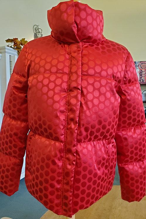 Carre Noir Red Puffer Coat