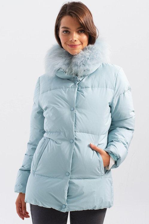 Charlie B Down Coat w/Faux Fur Collar