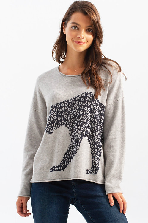 Charlie B Cheetah Sweater
