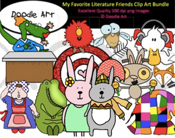 my fav literature friends clip art bundle