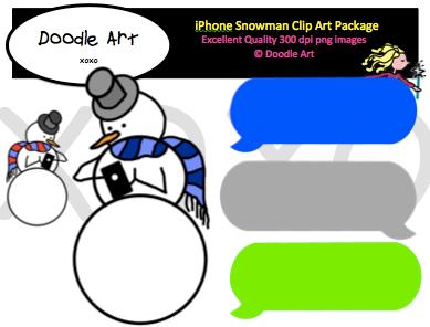iPhone Snowman