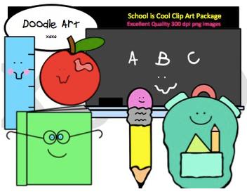 School is Cool Clip Art Pack