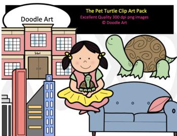 The Pet Turtle Clip Art