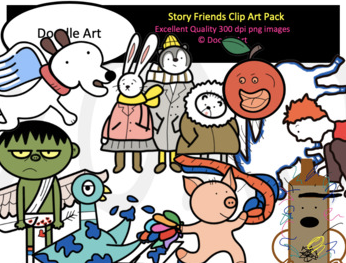story friends clip art bundle