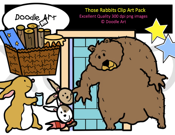 Those Rabbits Clip Art Pack