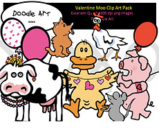 Valentine Moo Clip Art Pack.png
