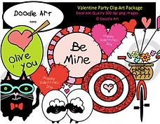 Valentine Party Clip Art Pack.png