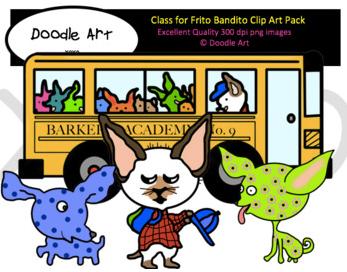 Skippy Jon Jones Goes to School Clip Art