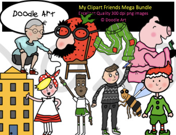 my clipart friends bundle