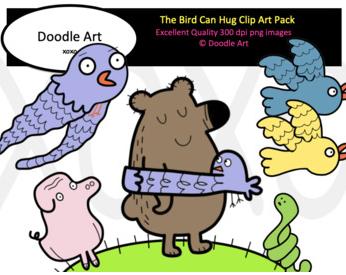 The Bird Hug Clip Art Pack