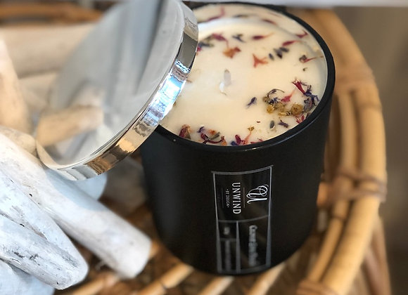 320 gram Black/Silver Deluxe Soy Candle