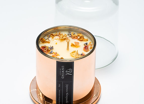 320g Deluxe Electroplated Rose Gold Cloche Candle