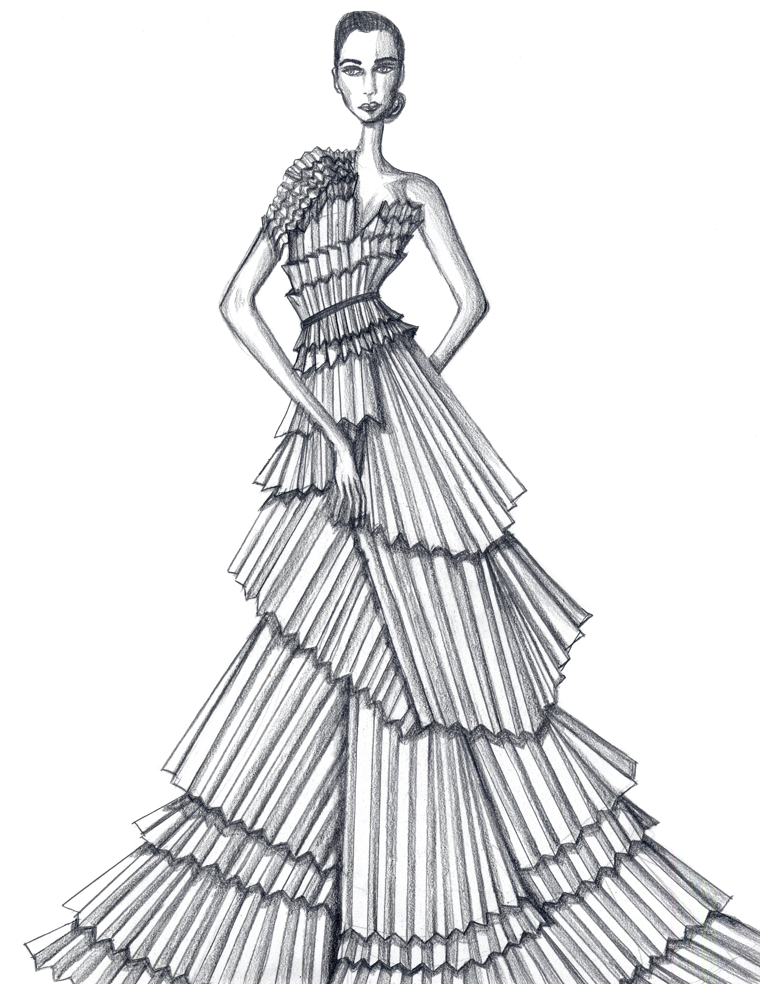 PLEATED PAPER DRESS 2