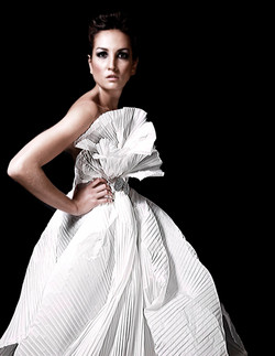 PLEATED PAPER DRESS