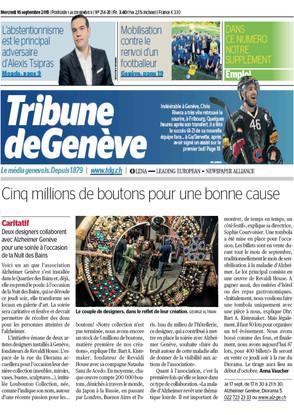 Tribune de Geneve Sept 2015