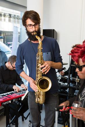 Julien Boss au Saxophone