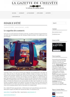 La Gazette de l'Helvète - été 2016