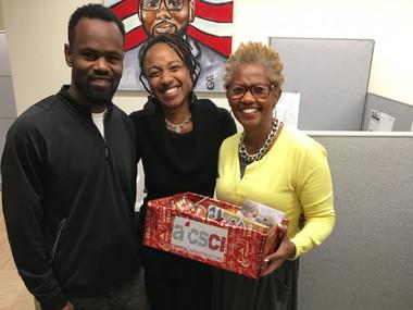 ATCS CI Donates to Ward 8 Council Member Trayon White's Christmas Drive
