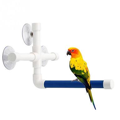 Pet Birds Shower Perches  Standing Platform  For Parrot Budge