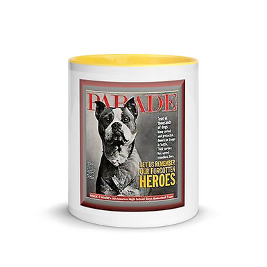 PITBULL SARGEANT STUBBY Mug with Color Inside