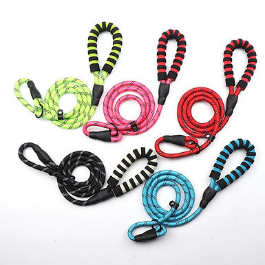 Reflective Nylon  Rope Lead With Handle  Strong Durable Multiple Colors
