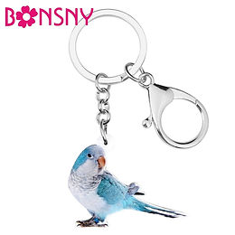 Acrylic Blue Quaker Key Chain