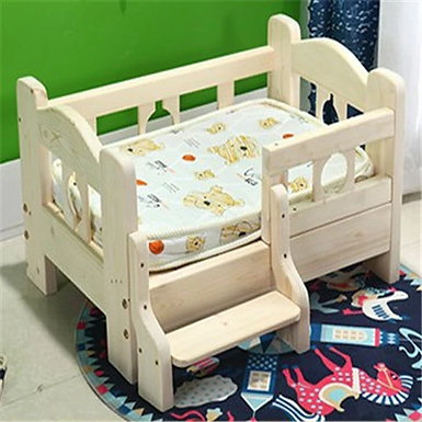 Solid Wood Dog Bed