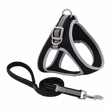Nylon Mesh  Reflective Dog Harness and Leash Set