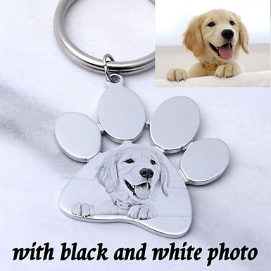 Personalized Custom Photo Fur Baby Memorial Keychain,
